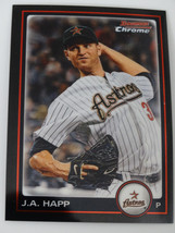 2010 Bowman Chrome #128 J.A. Happ Houston Astros Baseball Card - $1.00