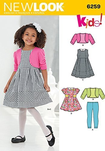 Simplicity Creative Patterns New Look 6259 Child's Dress or Top, Knit Leggings a