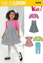 Simplicity Creative Patterns New Look 6259 Child's Dress or Top, Knit Le... - $11.27