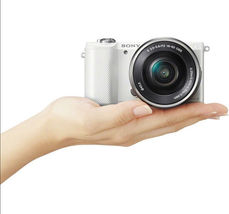 Sony Alpha A5000 White Mirrorless Digital Camera with 16-50mm Lens Kit image 8
