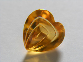Citrine Heart Laser Cut 4.70 cts, USA 20 Year Vendor, German - $115.83