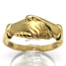 Gelbgold Ring 750 18K, Santa Rita, Handcreme, Poliert und Matt, Italien Made image 1