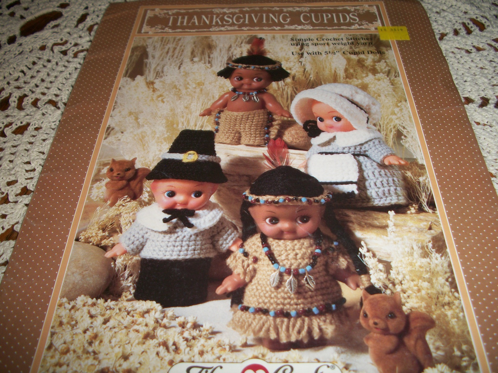 "Primary image for Thanksgiving Cupids Crochet for Pilgrims & Indians for 5 1/2"" Cupid Dolls"