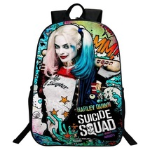 Suicide Squad Backpack Summer Series Daypack Schoolbag Harley Quinn One - $33.62 CAD