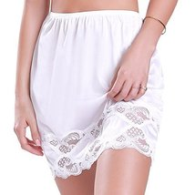 "Ilusion Women's Classic Half Slip Skirt with Lace Trim 1017/1817 (XL (24"" Length"