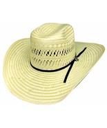 Bullhide PBR Short Round 50X Polyrope Straw Cowboy Hat Vented Crown Natu... - $69.00
