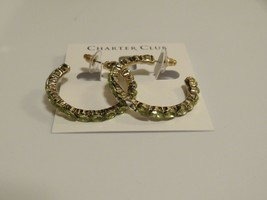 Charter Club Gold Tone Multi-color Crystal Earrings - New - $14.85
