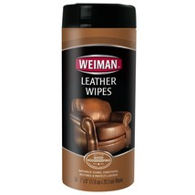Leather Wipes 30 Count Furniture Handbags Shoes Cleaner Car Seats Clean New - $4.31