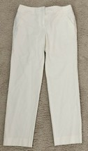 NWT Charter Club Off-White Classic Fit Trouser Dress Pants Cotton Stretch 6 - €14,84 EUR