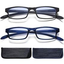 Reading Glasses Neck Hanging Readers - 2 Pairs Blue Light Blocking Computer Eyeg image 1