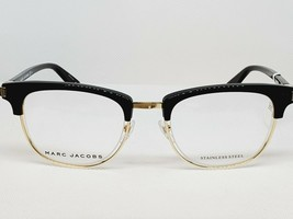 New Marc Jacobs eyeglass frame MARC 176 2M2 Black Gold Size 49 - $127.71