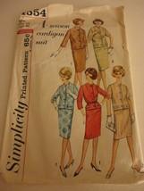 Vintage Simplicity 4554 4 Season Cardigan Suit Pattern 1960s cut Size 16... - $11.87