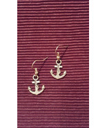Rockabilly Anchor Earrings made with Nickel Free hooks - $5.40