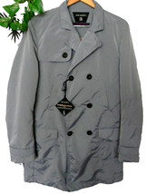 John Barritt Men's Gray Shiny Rain Coat 3 Buttons Jacket Size US 42 EU 5... - $71.47