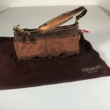 Coach Handbag Shoulder Signature Stripe Hobo Brown Copper Small NEW NWOT - $69.99
