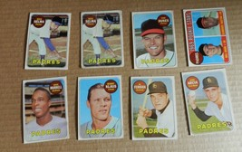 1969 TOPPS 8 CARD LOT SET FILLERS - $0.99