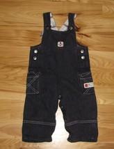Tommy Hilfiger Naval Division Baby Toddler Boy Denim J EAN Overalls Anchor 12-18 - $24.74