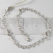 White Gold Bracelet 750 18K with Circles Worked and Dolphins, Length 19 CM - $335.43
