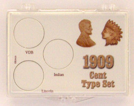 1909 Cent Type Set, 2x3 Snap Lock Coin Holder, 3 pack - $5.99
