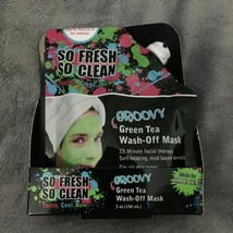 So Fresh So Clean Groovy Green Tea Wash-Off Mask, Face Mask 5oz (150mL) New - €2,25 EUR