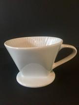 """Ceramic Single Serve Coffee Maker White Cone 4"""" Pour Over - $12.19"""