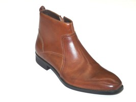 Kenneth Cole Men's Zipper Dressy Boot Leather Plain Toe Crisis Averted Tan Brown - $104.99