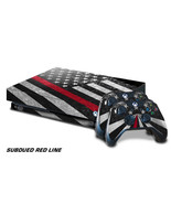 Xbox One X Console Skin with 2 Controller Decals USA RED LINE subdue fla... - $19.75
