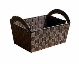Black Temptation Weaving Household Storage Basket Useful Storage Containers - £15.91 GBP