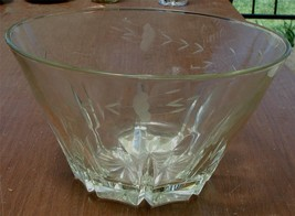 Princess House Large Open Bowl, Heritage Pattern Etched, VERY GOOD COND - $39.59