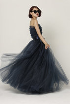 Adult Maxi Full Tulle Skirt Floor Length Tulle Skirt Evening Long Skirt, Apricot image 4