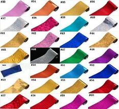 60 Colors Nail Art Tips Wraps Transfer Foil A* US SELLER * BUY2GET1FREE image 13