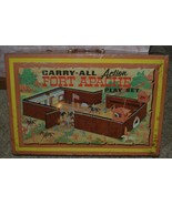 1968 MARX FORT APACHE CARRY ALL ACTION PARTIAL SET w/ TIN CASE #4685 - £95.18 GBP