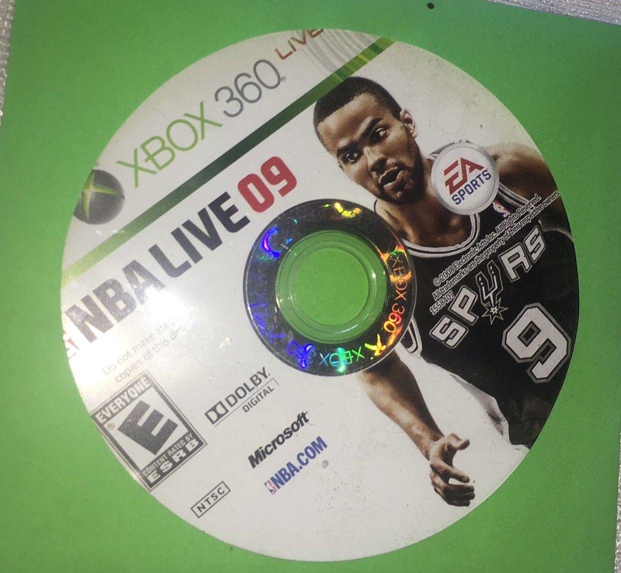 NBA Live 09 (Microsoft Xbox 360, 2008) DISC ONLY