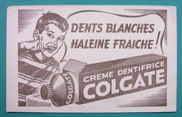 COLGATE TOOTHPASTE for White Teeth - c 1960 Ink Blotter Advertisement - $4.49
