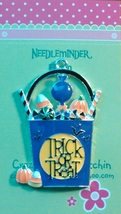 Trick or Treat Basket needleminder cross stitch needle accessory - $7.00