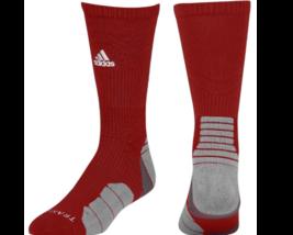 ADIDAS Menace Climalite Traxion Crew Socks Men's sz L Large (9.5-12) Red - $29.99