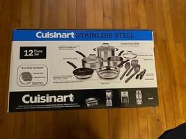 Cuisinart - 12-Piece Cookware Set - Stainless Steel -Brand New