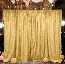 10 feet x 10 feet Panne Velvet Event Backdrop Drapes Curtains Panels Rod... - $49.95