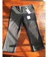 DOCKERS CAPRIS cropped black pants women's 8 Slim Leg Truly Slimming NEW... - $20.99
