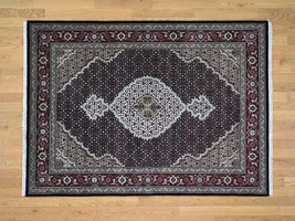 5'x7' Wool And Silk Mahi Design HandKnotted Oriental Rug G43961 - $658.00