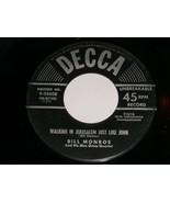 Bill Monroe Walking In Jerusalem You're Drifting Away 45 Rpm Record Decc... - $19.99