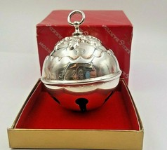 """2000 Silverplate Sleigh Bell Ornament """"Holly Bell"""" by Reed & Barton #6454 - $25.00"""