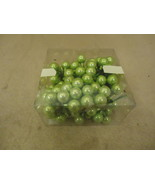 Designer Box of Hanging Balls Decorative 1in Diameter Green Glass - $16.92