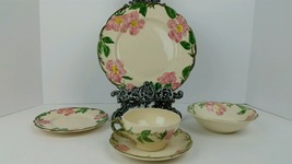 (5) Piece Vintage Franciscan Desert Rose Luncheon Set, USA California Stamped - $23.01