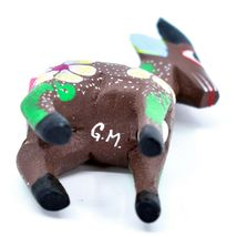 Handmade Alebrijes Oaxacan Wood Carving Painted Folk Art Mountain Goat Figurine  image 5