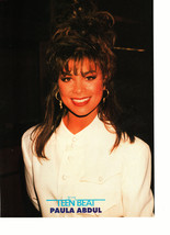 Kirk Cameron Paula Abdul teen magazine pinup clipping suit and tie Teen Beat