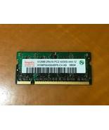 Lot of 2 Hynix HYMP564S64BP6-C4-AB SODIMM 512MB DDR2 533 PC2-4200 RAM Me... - $9.89