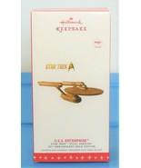 "Star Trek ""U S S Enterprise"" Pilot Version Gold Ship 2016 Hallmark Ornam... - $84.90"