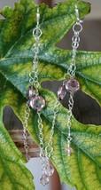 Pink Drops Earrings - $15.00