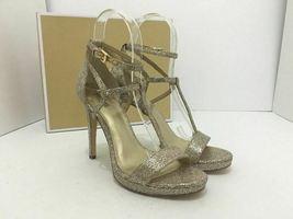 Michael Kors Simone Women's Evening High Heels Sandals Silver Sand Glitter 7 M image 12